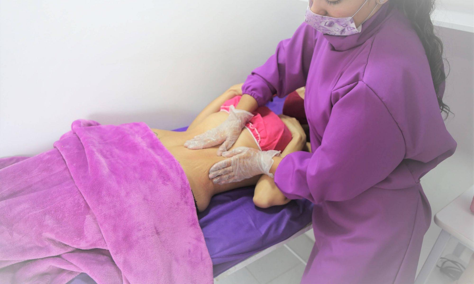 Reducción de medidas masaje corporal
